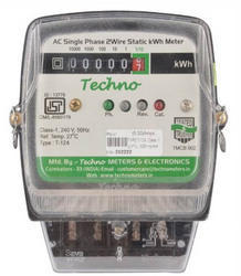 Techno Single Phase Electronic Energy Meter - Counter Type Display, Model Name/Number: TMCB002, 240