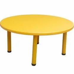 ABS Yellow Plastic School Round Kids Table