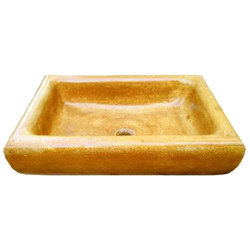 Yellow Marble Wash Basin