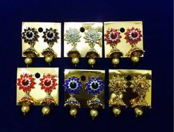 Dot Exports Indian Jhumki Designer Stone Earrings