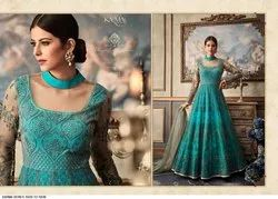 Heavy Net  Embroiderd Anarkali Suits