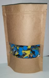 Paper Pouch With Standy-Zipper & Window