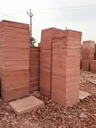 Polish Stone Agra Red Sandstone, Thickness: >25 mm, for Flooring