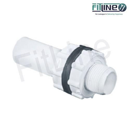 Fitline One Side Threaded UPVC Tank Nipple Pipe, Size: 1/2 inch