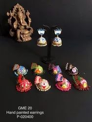 Hand Painted Earrings GME 20