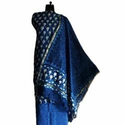 Dabu Indigo Chanderi Ladies Suit