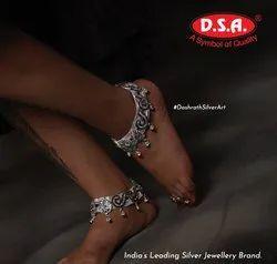 DSA Heavy Silver Anklets