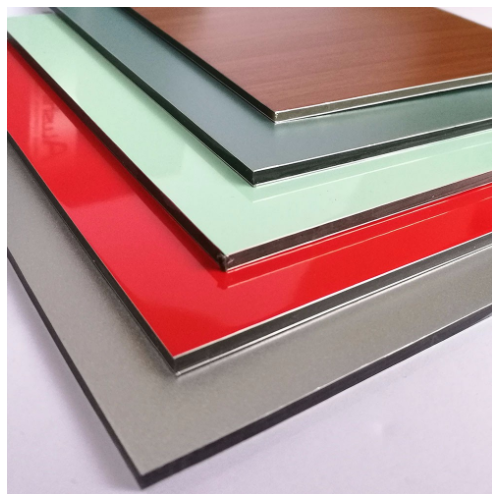 Solid Finish Aluminium Composite Panel Sheet - Tomato Red