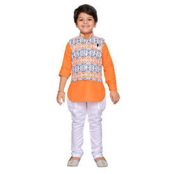 d067ec66f Boys Cotton Kids Kurta Pyjama Waistcoat Set, Rs 695 /set   ID ...