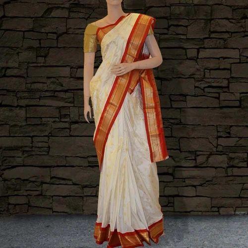 3b7ed83fb3 Pure Silk Paithani Sarees - White & Red, पठानी साड़ी ...