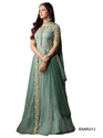 Green Long Party Wear Salwar Kameez