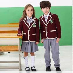 Woolen and Cotton Printed Kids School Uniforms