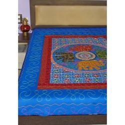 Embroidered Gujrati Kantha Work Single Bed Sheet