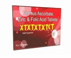 Ferrous Ascorbate Zinc  And Folic Acid Tablets