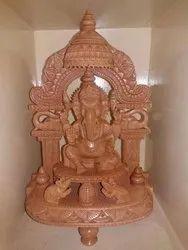 Interior Wooden Ganesh Statue