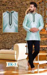 Embroidered Silk Kurta for Men