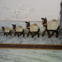 Wooden Camel Statue with Beads Work