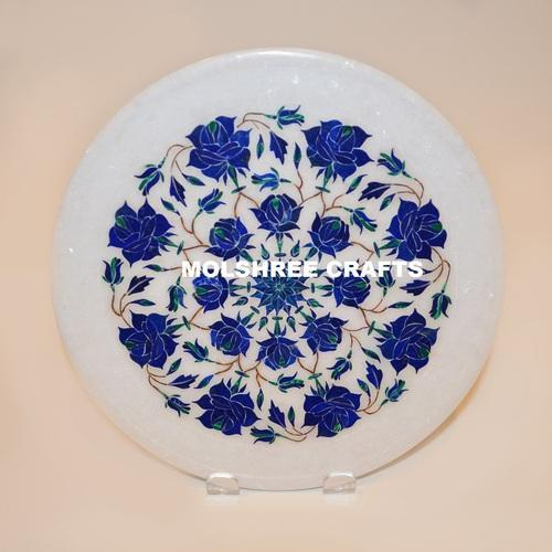 Marquetry Marble Inlay Plate
