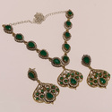 Green Turkish Trending Necklace Set