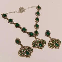 Green Turkish Trending Necklace Set