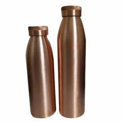 Polished Designer Plain Copper Water Bottle