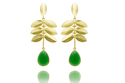925 Sterling Silver Gold Plated Flower Cultic New Style Jewelry Earring Women Models