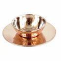 Brass, Copper Brown Under Liner Brass Copper Soup Bowl