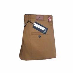 Cotton/Linen Flat Trousers Men Casual Wear Plain Trouser