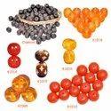 Round Oval Flat Handmade Smoky Plain Resin Beads Handmade Custom Beads, Poly Bag, Size: 20 Mm