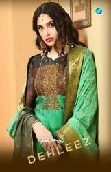 20fff15b5a Semi-Stitched Your Choice Present Dehleej Satin Georgette Digital Printed  Salwar Suit