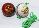 White Cricket Leather Ball With Dori For Practice