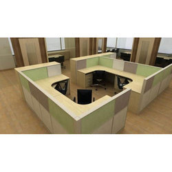 Wooden Office Cubicle