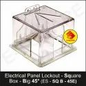 Electrical Panel Lockout - Square Box - Big 45 Degree