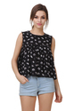 Women's Rayon Round Neck Printed Flare Top