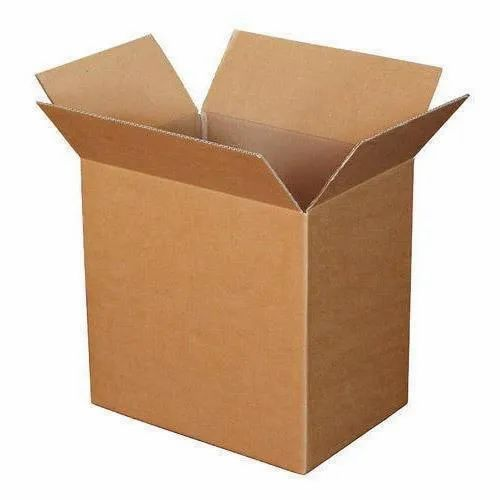 Corrugated Paper Sheets Brown Plain Corrugated Box, for Packaging