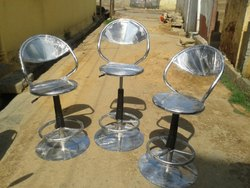 Mirror Finish Stainless Steel Rotatable Chair