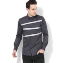 Grey Mens Clubwear Shirt