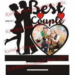 Best Couple Heart Shaped Photo Frame