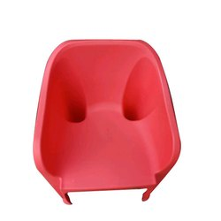Red With Hand Rest (Arms) Nilkamal Plastic Chair