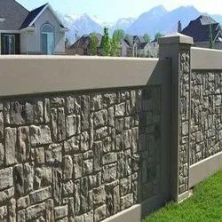 Compound Wall Construction Work