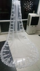 gownlink White Christian Wedding Bridal Long Veil