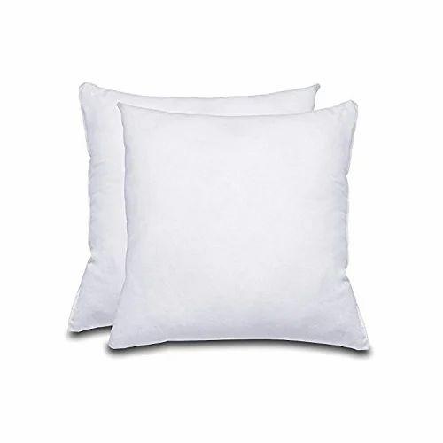 Cotton Stripe & Plain White Plain cushions, Shape: Square, Packaging Type: Packet