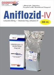Linezolid 200mg Dextrose 5gm