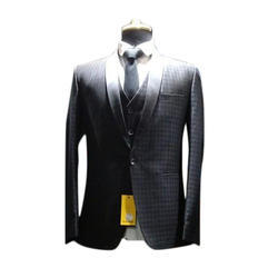 Black Checked Formal Suits
