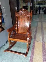 Teak wood racking chair