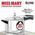1.95 Kg Silver Hawkins Miss Mary 5 L Pressure Cooker