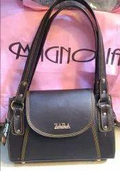 Modern Brown Zara Ladies Leather Handbag, For Shopping, Gender: Women