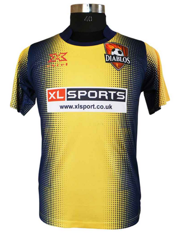 52bf573c6 Yellow And Blue Soccer Kit Football Jersey