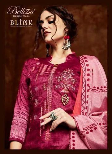 a42dcd2e42 Printed Blink Belliza Designer Jam Silk Suits, Rs 695 /piece   ID ...