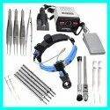 Addler Hair Transplant Kit For Professionals And Students With Fue Machine Forceps Punches Implanter